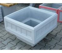 Вазон бетонный четырёхгранный V-040
