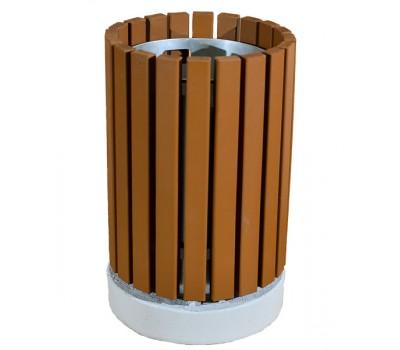 Урна деревянная на бетонном основании UB-023