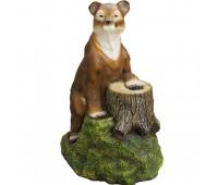 Новогодняя скульптура  Медведь и пень (боль)