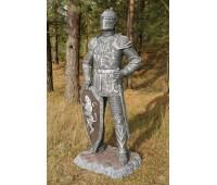"""Садовая скульптура """"Рыцарь"""" (щит внизу) FS-062"""